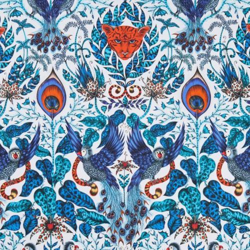 Tissu Amazon de Clarke & Clarke coloris Blue F1107-01