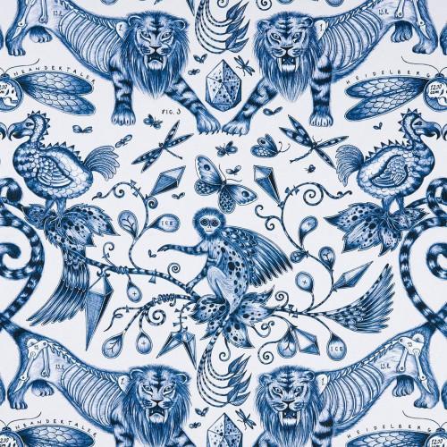 Tissu Disparue de Clarke & Clarke coloris Blue F1109-01