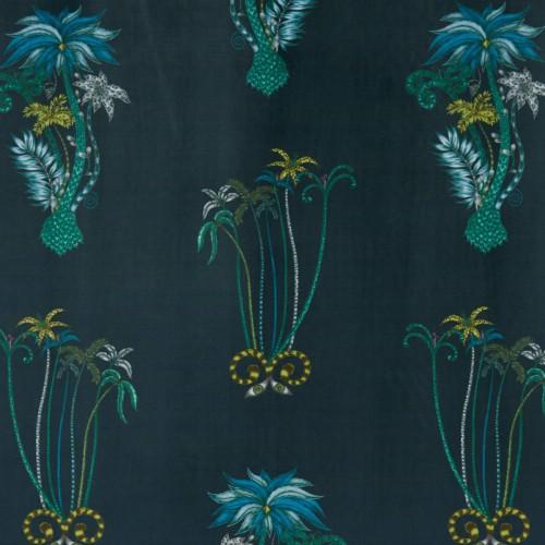 Palms Jungle velvet fabric - Clarke & Clarke