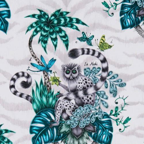Tissu Lemur de Clarke & Clarke coloris Jungle F1112-01