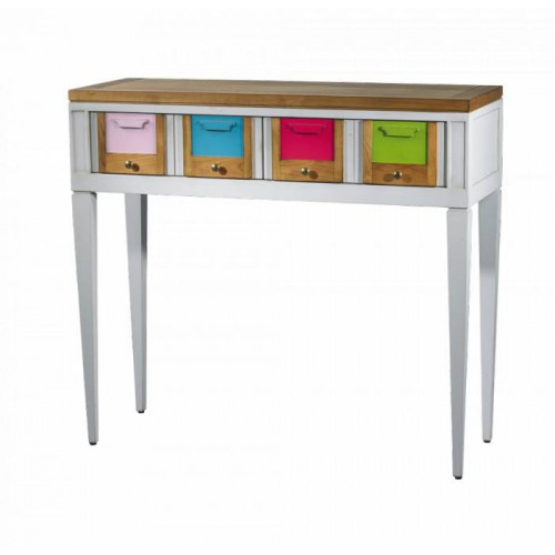 Console table 2 drawers Les Coloristes - Labarère