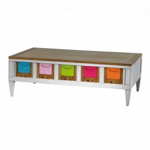 Coffee table 2 drawers Les Coloristes - Labarère