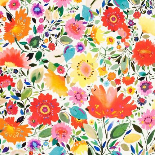 Tissu Ariadne's Dream Linen de Clarke & Clarke coloris Multi F0813-01