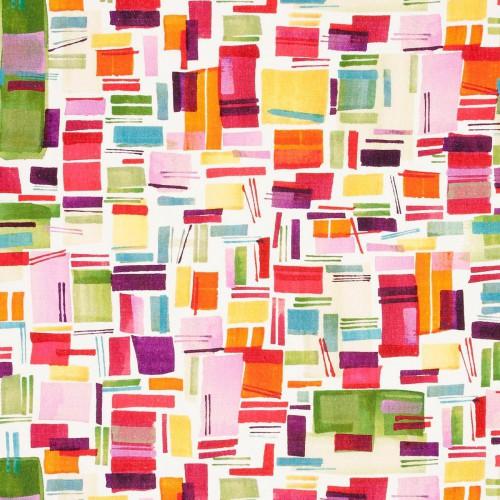 Tissu Brooklyn Linen de Clarke & Clarke coloris Multi F0815-01