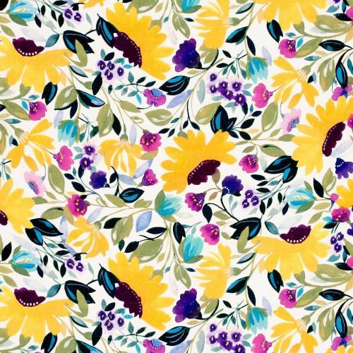 Isabelle's Garden Linen fabric - Clarke & Clarke