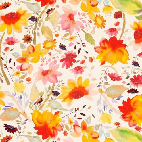 Tissu Martine Linen de Clarke & Clarke coloris Multi F0824-01