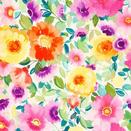 Tissu Penelope's Muse Linen de Clarke & Clarke coloris Multi F0825-01