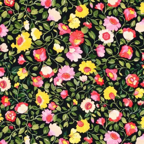 Tissu Tatiana Linen de Clarke & Clarke coloris Noir F0833-01