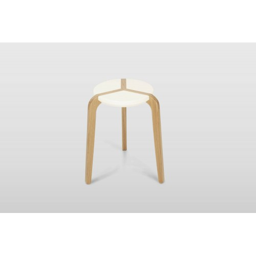Archimede stool - Boulon Blanc