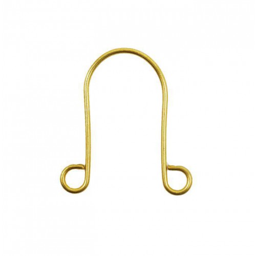 Big Omega hooks plated brass - Houlès