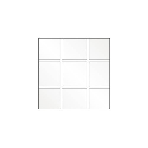 Square tiled flexible cristal plastic