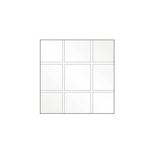 Plastique cristal souple à carreaux carrés