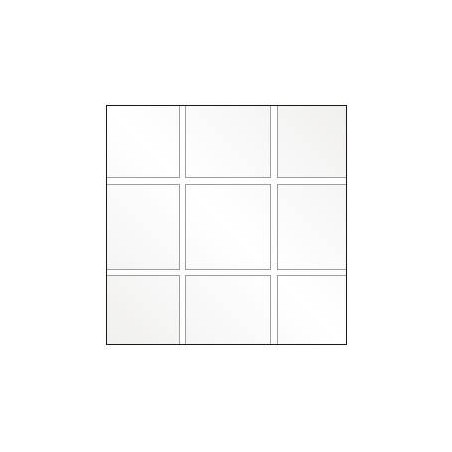 Square tiled flexible cristal plastic