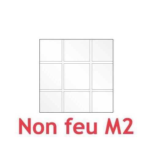 Plastique cristal souple à carreaux carrés 0.40 mm (40/100) non feu M2