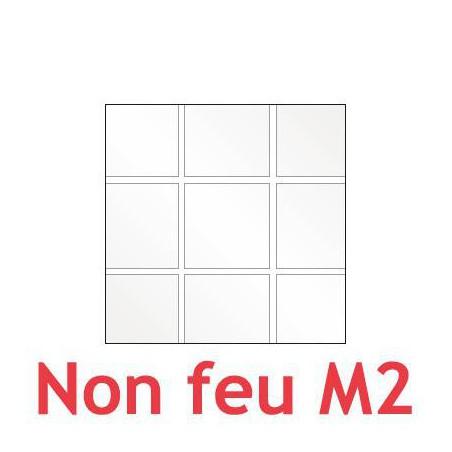 Square tiled flexible cristal plastic 0.40 mm (40/100) M2 fireproof