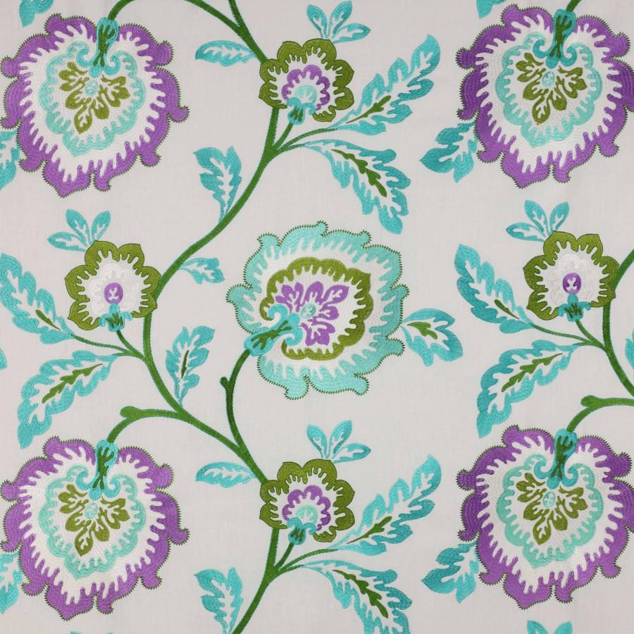 Tissu Samira de Manuel Canovas coloris Aqua 04780-04