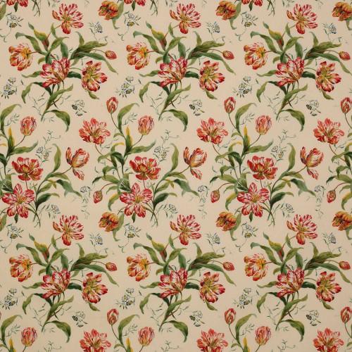 Tissu Delft Tulips de Colefax and Fowler coloris Pink / Green F2823-01