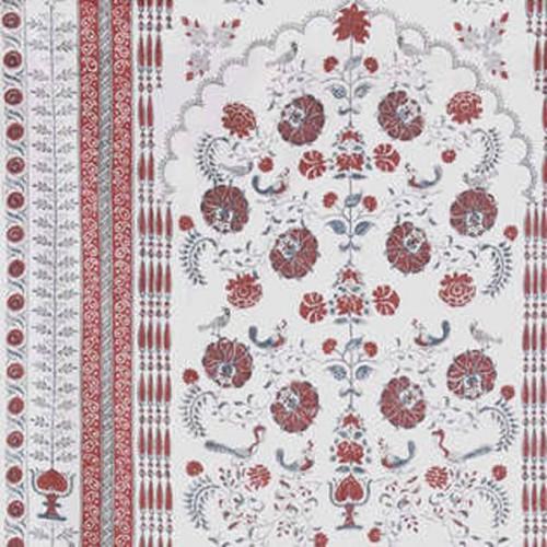 Tissu Jaipur - Panneau de Braquenié coloris Garance B7593001