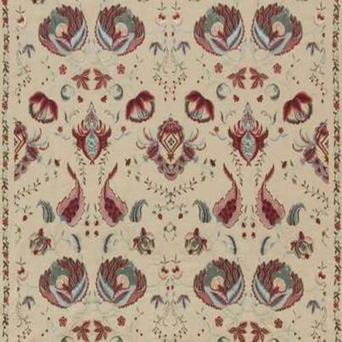 Tissu Pondichery-Broderie de Braquenié coloris Multicolore B7574001
