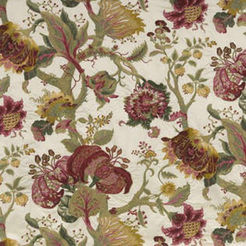 Tissu Beaumesnil-Broderie de Braquenié coloris Multicolore B7575001