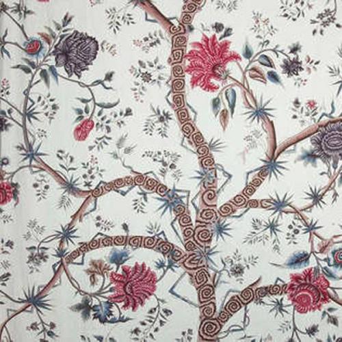 Tissu Le Grand Genois-Panneau de Braquenié coloris Multicolore B756A001