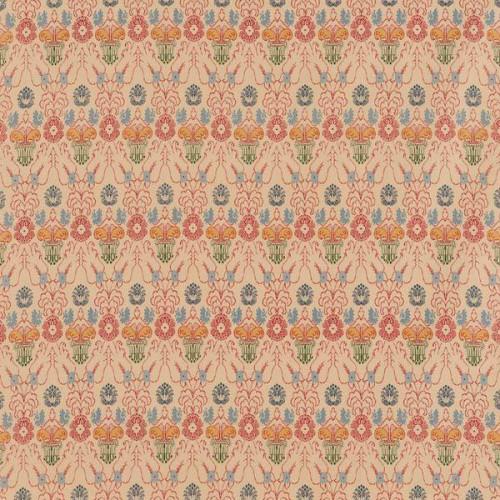 Tissu Antinoe de Le Manach coloris Crème rouge L42860-002
