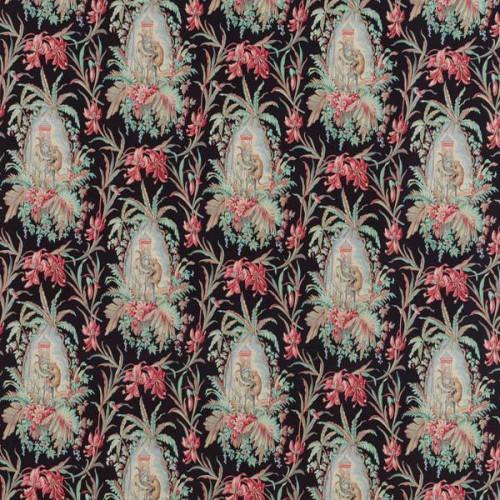 Tissu Les Elephants de Le Manach coloris Noir L4174-001