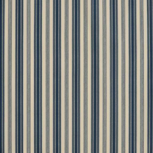 Tissu Malmaison Rayure de Le Manach coloris Bleu L3537-001