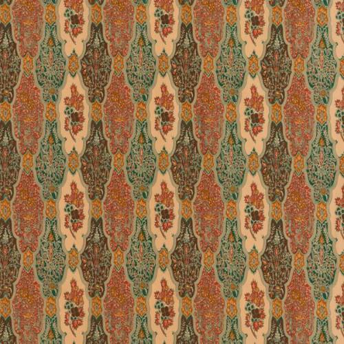 Tissu Batik Raisin de Le Manach coloris Caramel L3673-100