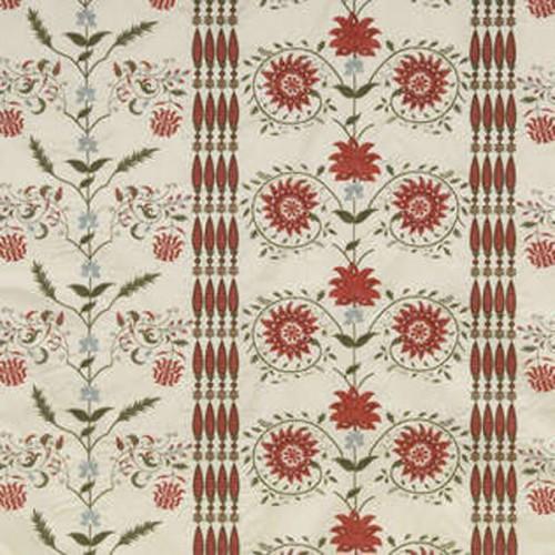 Tissu Les Colonnes-Broderie de Braquenié coloris Multicolore B7570001