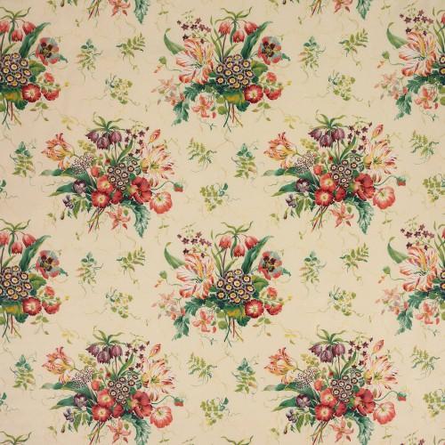 Tissu Alicia Chintz de Colefax and Fowler coloris Pink / Green F2003-01