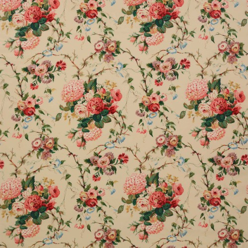 Tissu Amberley de Colefax and Fowler coloris Pink / Green F1707-02