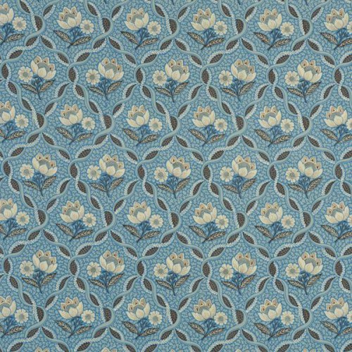 Tissu Balmoral de Le Manach coloris Bleu L2290-004