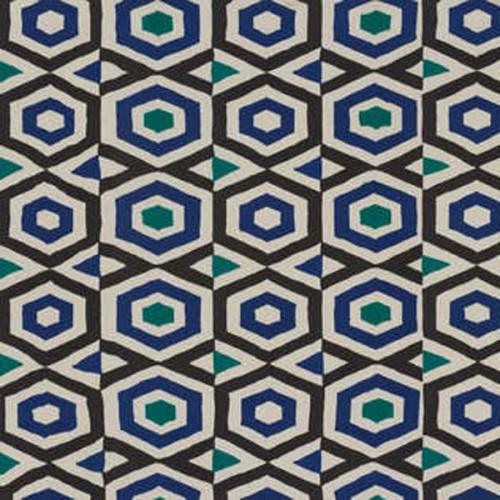 Tissu d'ameublement Pepita de Boussac coloris Abysse O7938001