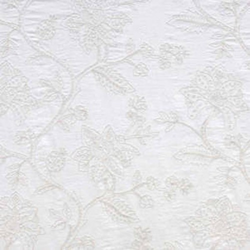 Tissu Artenay-Broderie de Braquenié coloris Blanc B7565002