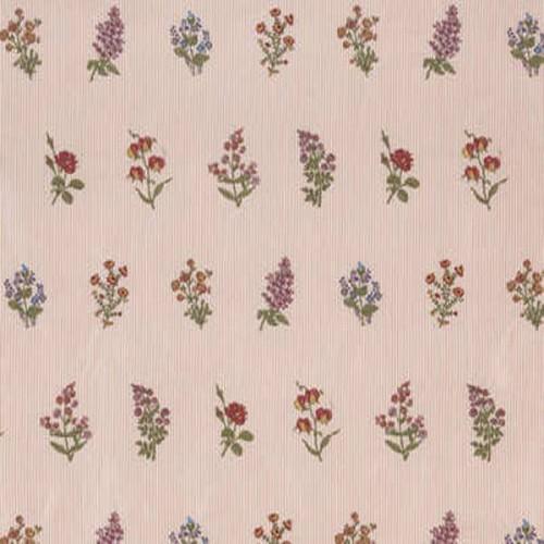 Tissu Herbier-Broderie de Braquenié coloris Vieux rose B7564001