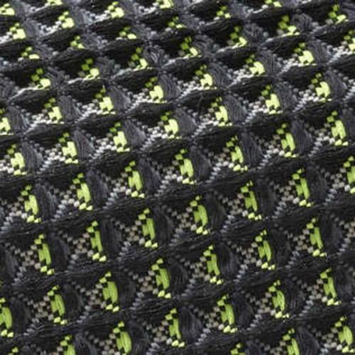 Tissu d'ameublement Waffle IV de Boussac coloris Acid / Black O7925004