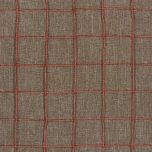 Tissu d'ameublement Cube de Boussac coloris Camel / Rust O7920003