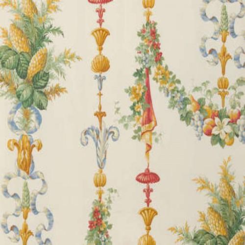 Tissu d'ameublement Chateaubriand de Boussac coloris Fond crème O6671001
