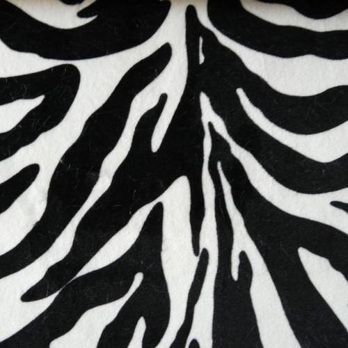 Tissu fausse fourrure Zebre