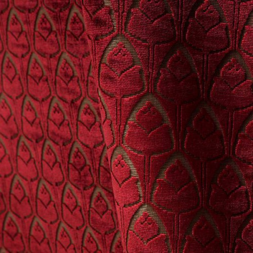 Tulipes velvet fabric - Tassinari & Chatel