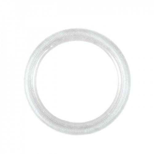 Anneaux pour tringle à rideaux collection Tantulo de Houlès coloris Blanc mat 16 mm 66389-16