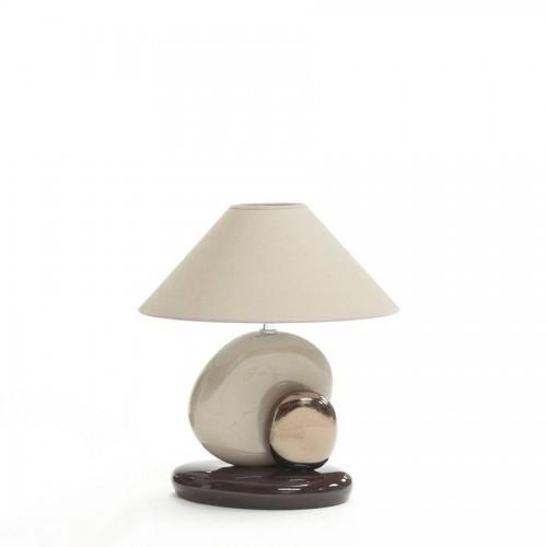Lampe Guric Petit Modèle coloris corde, argent et chocolat - François Châtain