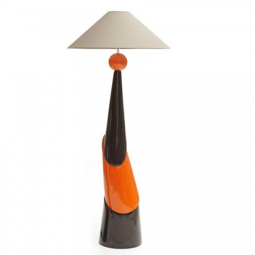 Lampe Fanny Modèle MAXI coloris chocolat, orange et chocolat - François Châtain