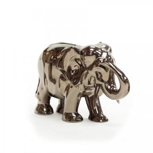 Elephant en céramique coloris argent - François Châtain