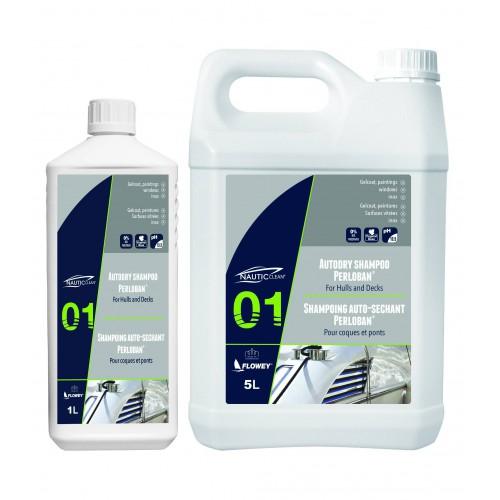 Bidon de 1 litre Shampoing auto séchant Nautic Clean
