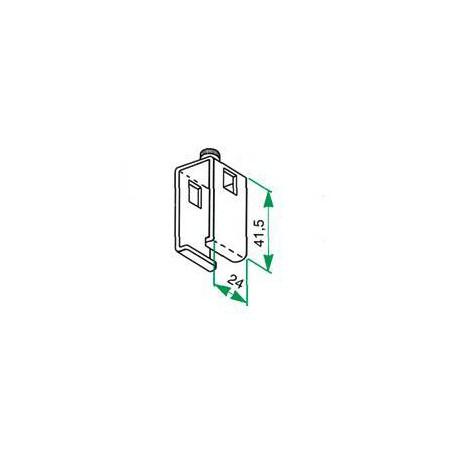 Support collier ouvert avec vis de serrage adaptable pour tringle Rails chemin de fer 24 x 16