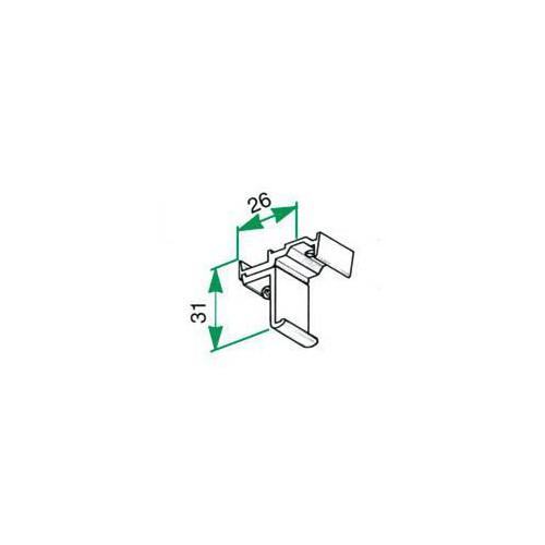 Support de plafond aluminium pour tringle Rails chemin de fer 24 x 16