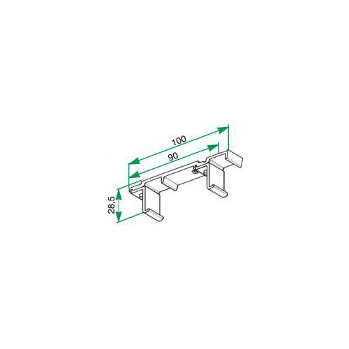 Support double de plafond pour tringle Rails chemin de fer 24 x 16