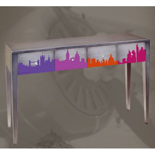 Console motif London - Meubles Batel